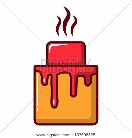 Cupcake icon. Cartoon illustration of cupcake vector icon for web design