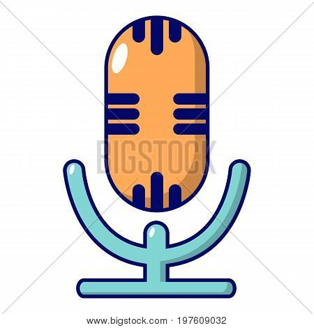 Studio microphone icon. Cartoon illustration of studio microphone vector icon for web design