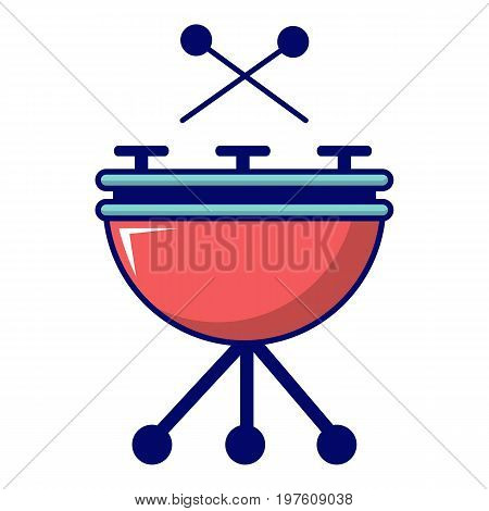 Drums icon. Cartoon illustration of drums vector icon for web design
