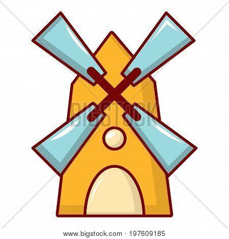 Windmill icon. Cartoon illustration of windmill vector icon for web design
