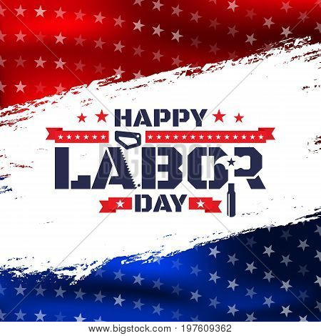 Happy Labor Day.america Labor Day For Greeting Card.typography Labor Day Badges Design.vector Labor
