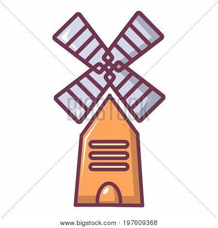 Farm windmill icon. Cartoon illustration of farm windmill vector icon for web design