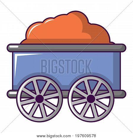 Train wagon icon. Cartoon illustration of train wagon vector icon for web design