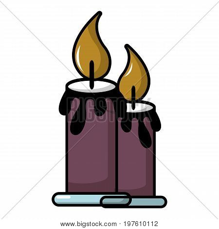 Funeral candles icon. Cartoon illustration of funeral candles vector icon for web design