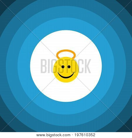 Angel Vector Element Can Be Used For Angel, Cheerful, Smile Design Concept.  Isolated Cheerful Flat Icon.