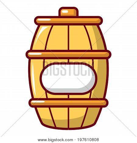 Barrel of honey icon. Cartoon illustration of barrel of honey vector icon for web design