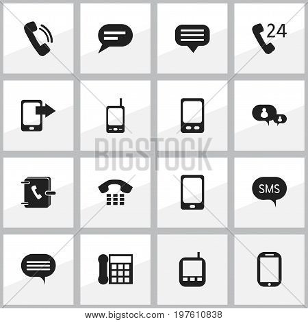 Set Of 16 Editable Device Icons. Includes Symbols Such As Tablet, Talking, Mobile And More