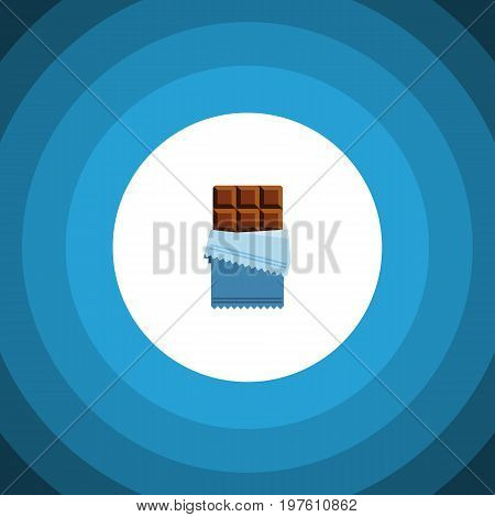 Bitter Vector Element Can Be Used For Chocolate, Shaped, Bitter Design Concept.  Isolated Chocolate Flat Icon.