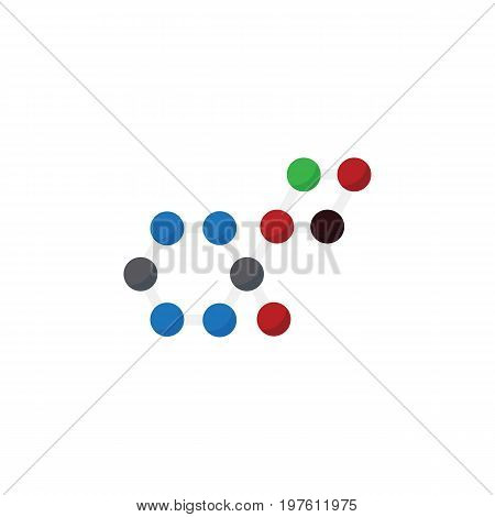 Molecule Vector Element Can Be Used For Chemical, Oxygen, Molecule Design Concept.  Isolated Chemical Flat Icon.