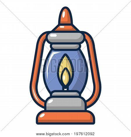 Kerosene lamp icon. Cartoon illustration of kerosene lamp vector icon for web design