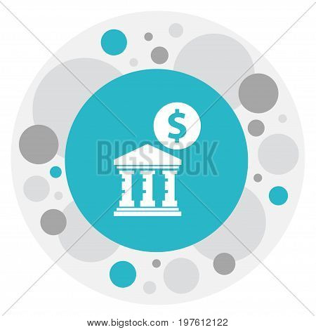 Vector Illustration Of Financial Symbol On Academy Icon
