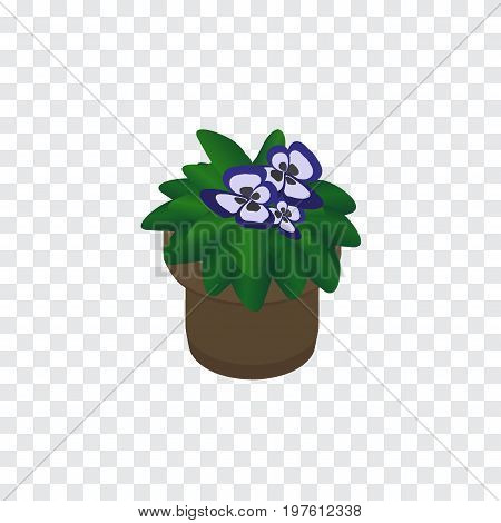 Flowerpot Vector Element Can Be Used For Flower, Flowerpot, Plant Design Concept.  Isolated Flower Isometric.