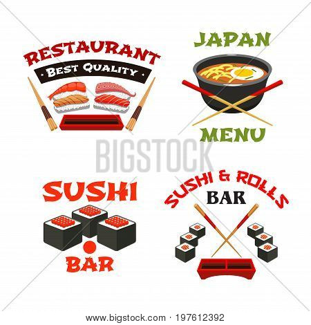Japanese Food Icons Vector Photo Free Trial Bigstock