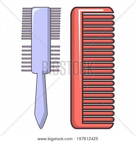 Comb brush icon. Cartoon illustration of comb brush vector icon for web design