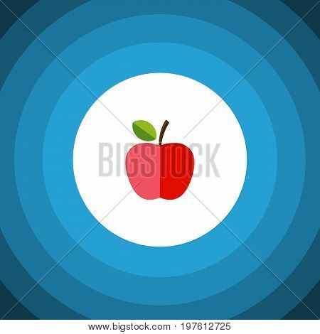 Harvest Vector Element Can Be Used For Fruit, Apple, Harvest Design Concept.  Isolated Fresh Fruit Flat Icon.