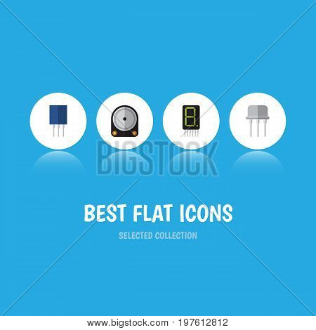Flat Icon Electronics Set Of Hdd, Receptacle, Resist And Other Vector Objects
