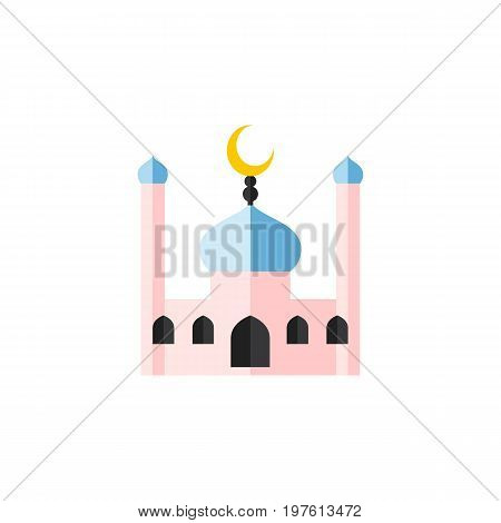 Muslim Vector Element Can Be Used For Muslim, Traditional, Minaret Design Concept.  Isolated Traditional Flat Icon.