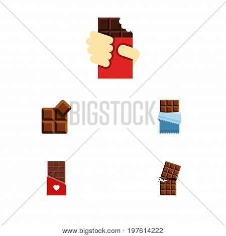 Flat Icon Bitter Set Of Shaped Box, Chocolate, Bitter And Other Vector Objects