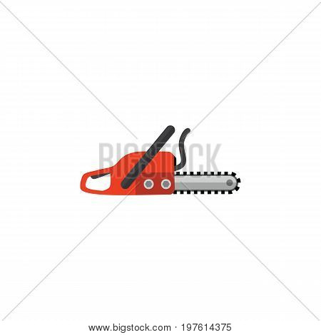 Hacksaw Vector Element Can Be Used For Hacksaw, Saw, Blade Design Concept.  Isolated Saw Flat Icon.