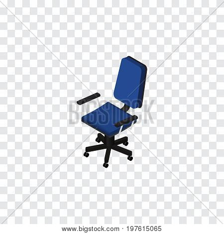 Office Vector Element Can Be Used For Office, Chair, Armchair Design Concept.  Isolated Chair Isometric.