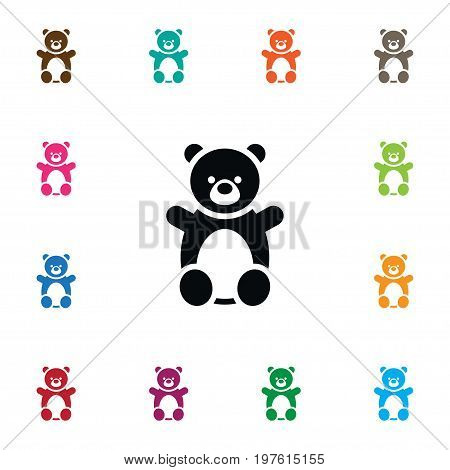 Doll Vector Element Can Be Used For Teddy, Bear, Doll Design Concept.  Isolated Teddy Icon.