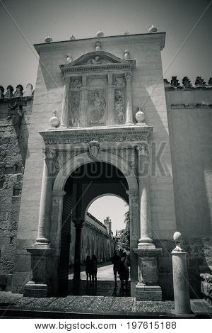 Arch At The Entrance To The Mosque Church Of Cordoba, Spain, Europe