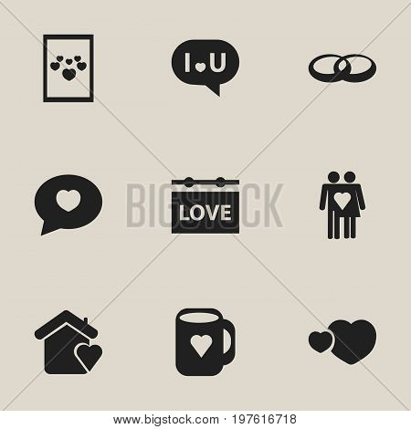 Set Of 9 Editable Heart Icons. Includes Symbols Such As Image, Confession, Proclamation And More