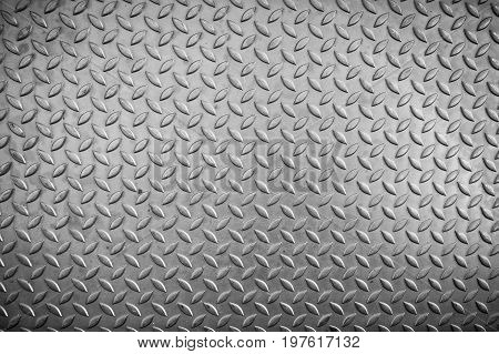 Steel checker plate texture and anti-skid. Abstract background.