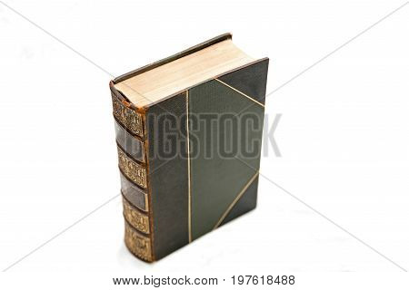 Antique late 19th century book, isolated with white background
