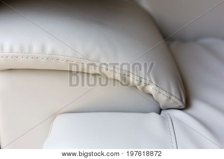 Beige Leather Couch Sofa Furniture