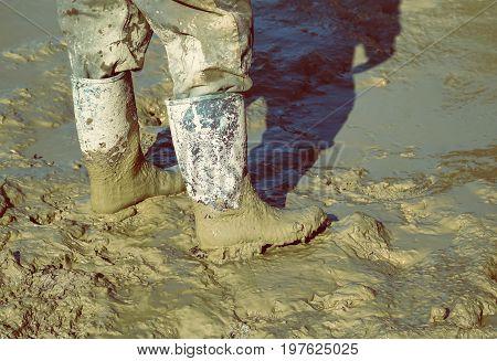 Muddy Work Boots 2