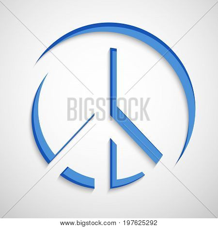illustration of Peace Symbol on the occasion of International Peace Day