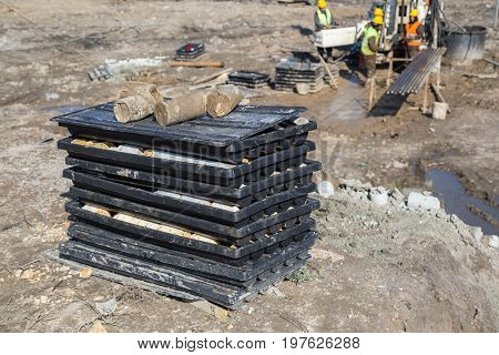 View Of The Drill Core Samples