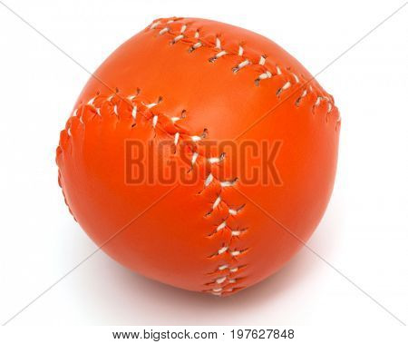 orange baseball ball on a white background