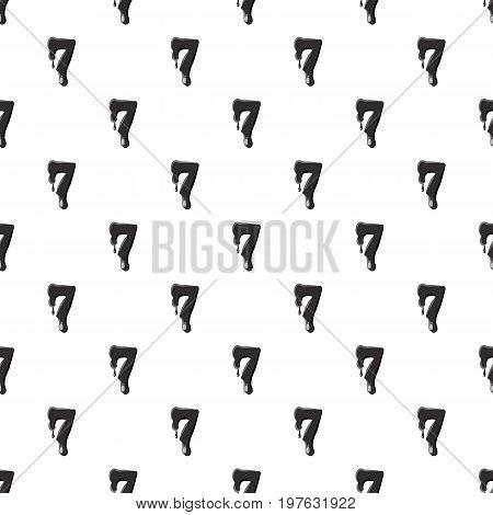 Number seven 7 isolated on white background. Black liquid oil seven 7 number vector illustration