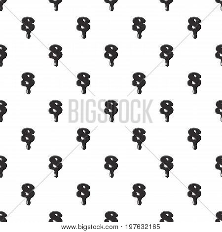 Number eight 8 isolated on white background. Black liquid oil eight 8 number vector illustration