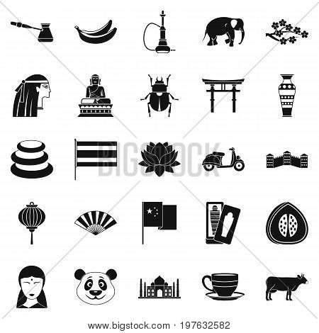 Mysteries of Asia icons set. Simple set of 25 mysteries of asia vector icons for web isolated on white background