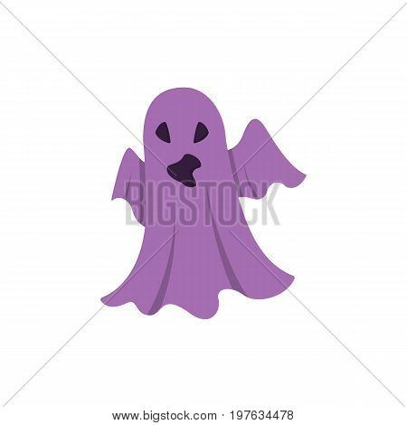 Ghost Icon isolated on white background. Design element for Halloween. Vector illustration in flat style for your design.