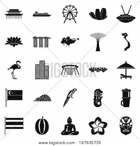 Holidays in Asia icons set. Simple set of 25 holidays in asia vector icons for web isolated on white background