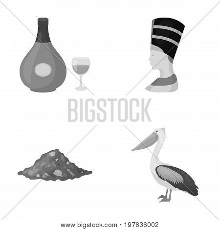 business, history, antiquity and other  icon in monochrome style.fauna, ecology, trade, icons in set collection