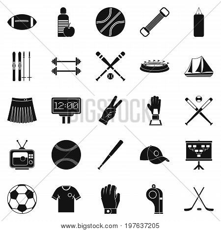 Trained person icons set. Simple set of 25 trained person vector icons for web isolated on white background