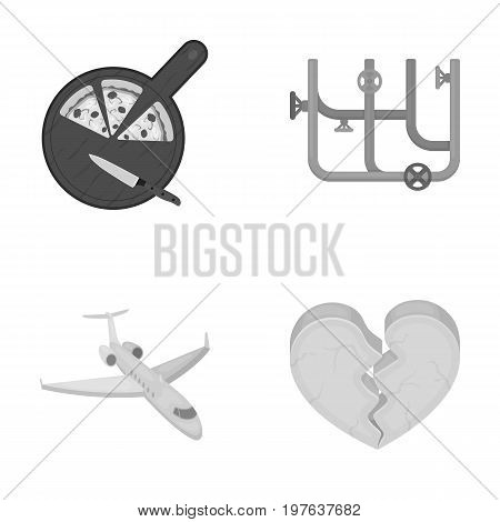 production, travel, hobby and other  icon in monochrome style.cold, gap, restaurant icons in set collection.
