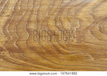 The surface of the wood is rough.