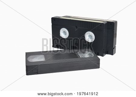 A picture of VHS cassette isolated on white background