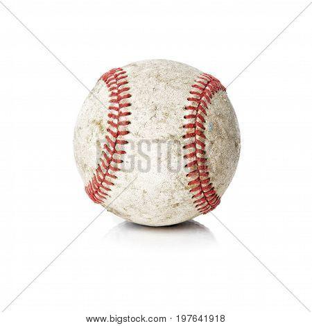 Baseball ball isolated on white background .