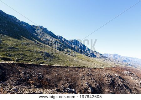 Swartberg Mountains And The Road