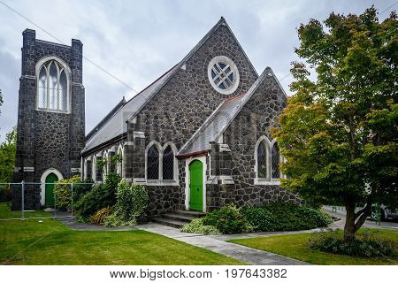 Small Church With In Christchurch, New Zealand
