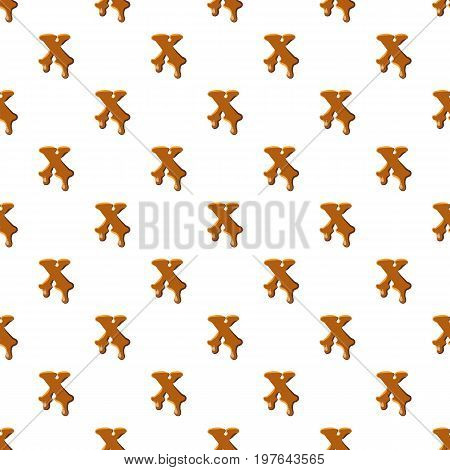 Letter X from caramel pattern seamless repeat in cartoon style vector illustration