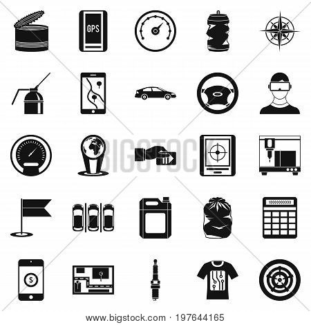 Secretaire icons set. Simple set of 25 secretaire vector icons for web isolated on white background