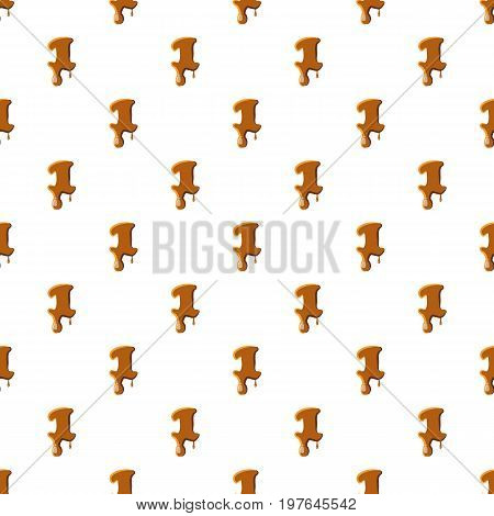 Number 1 from caramel pattern seamless repeat in cartoon style vector illustration